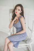 韩国美女模特性感吊带裙美腿销魂诱惑写真