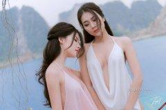 性感真空美女姐妹花大尺度人体艺术写真图