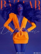 舒淇荧光橙造型时尚杂志图片