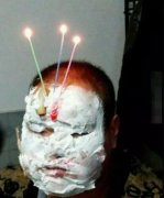 熊孩子过生日恶搞图片