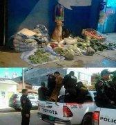 狗狗卖菜被城关抓的搞笑图片