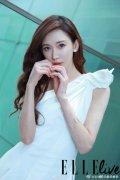 林志玲白色连衣裙性感优雅写真图片