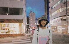 刘雯渔夫帽日本街拍照图片