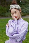 美女郭晓婷紫色优雅写真图片