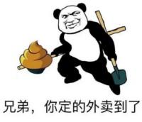 熊猫头表情包_兄弟,你定的外卖到了