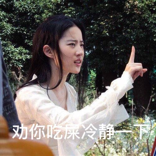 刘亦菲带字美美哒表情包