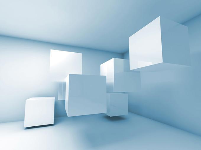 创意3d悬浮立方体