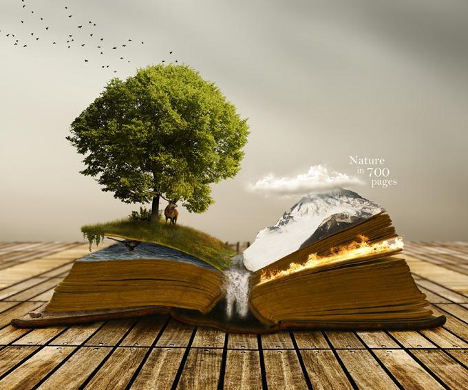 书本的世界_创意图片