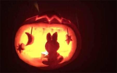 万圣节,小兔子模型南瓜灯