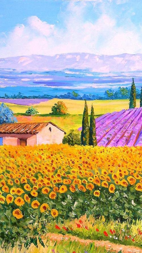美丽风景油画