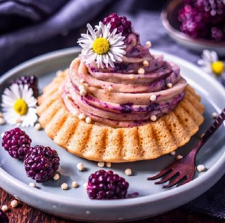 梦幻的紫色甜点