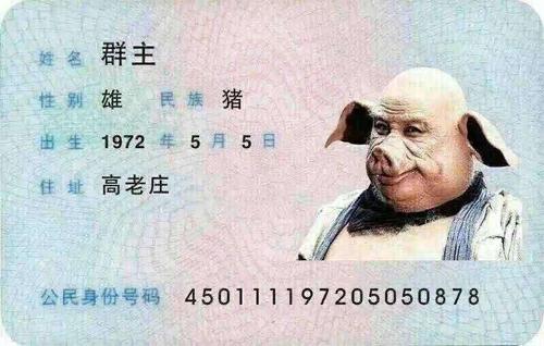 八戒身份证
