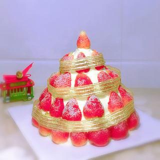圣诞草莓塔蛋糕
