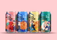 插画类果汁饮料包装