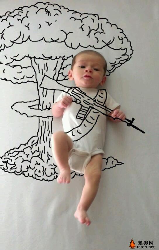 美国大兵头像_宝宝创意照片-儿童图片-热图网